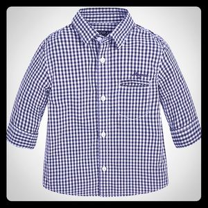 Mayoral Gingham Check Button Down
